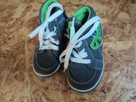 M-203 Knöchelhohe Schuhe mit Reißverschluss seitlich und Schnürsenkel grau/grün von COOL KIDS Gr. 23