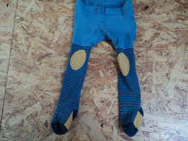 200 Dicke Strumpfhose in blau mit Giraffe, mit Antirutschnoppen an Knien oben und untern Fuß von STERNTALER Gr. 86/92