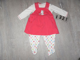 1321 Set Shirt mit Bodykleid von BORNINO Gr. 62/68