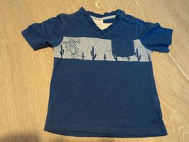 2792 Shirt blau mit Brusttasche und Kaktus von S'OLIVER Gr. 74