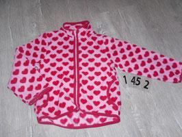 1452 Tolle Fleecejacke rosa mit pinken Herzen von H&M  Gr. 116