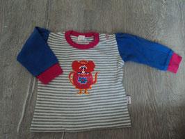 2044 LA Shirt gestreift bunt mit Teekanne und Mädchen von PUK DESIGN. Gr. 62