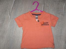 505 Shirt koralle Petit Poison von ZARA Gr. 68
