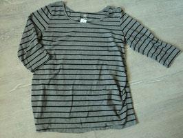 2299 Umstands LA Shirt grau schwarz gestreift 7/8 ärmel von H&M MAMA Gr. XL