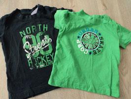 M-159 Set T-Shirts dunkelblau North Street Hockey- grün Urban Skate Corp Gr. 74/80
