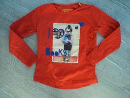 SS-30 LA Shirt rot mit Mädchen I love Books von TOM TAILOR Gr. 104/110