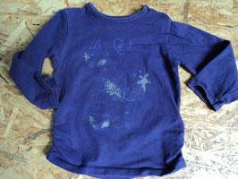 Y-14 LA Shirt dunkellila mit Federn die Glitzern von STACCATO Gr. 74