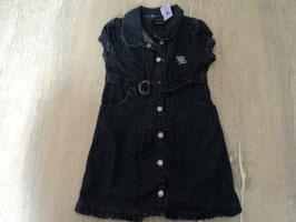 3251 Jeanskleid dunkelblau mit Gürtel und tollen Zierknöpfen von CALVIN KLEIN Gr.   92-104