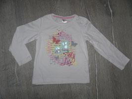 1331 LA Shirt rosa mit Schmetterlinge Pailetten Gr. 98/104