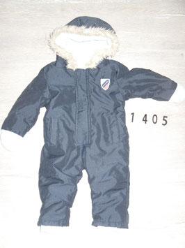 1405 Winteranzug dunkelblau innen Fleece Gr. 74/80