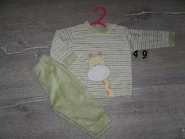 49 Schlafanzug Giraffe Gr. 74