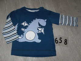 658 LA Shirt dunkelblau mit Drache von H&M Gr. 74