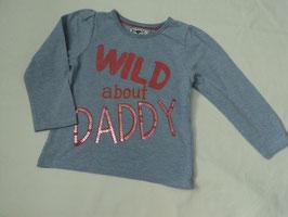 F-188 LA Shirt hell lila meliert -Aufschrift Wild about Daddy (Pailetten) von MOTHERCARE Gr. 92