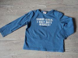 221 LA Shirt blau 'Sorry Girls, i only Date Models ! Von S'OLIVER Gr. 86