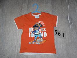 561 Shirt orange mit Pirat  Gr. 80