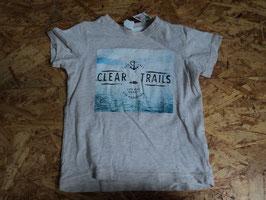 AL-8 Shirt beige meliert Clear Trails von H&M Gr. 80