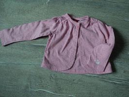 3090 Jäckchen mit 1 Knopf in rosa mit bunten neon Punkte von S'OLIVER Gr. 74