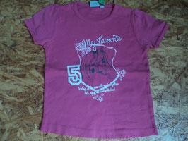 F-72 Shirt pink mit Pferd und glitzer von BLUE SEVEN KIDS Gr. 122