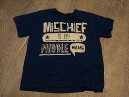 2716 Shirt strahlendes blau mit weißer Aufschrift von REBEL Gr. 98