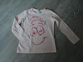 3235 LA Shirt rosa mit Keep Smiling Gesicht von BENETTON Gr. 110