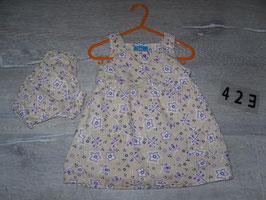 423 Hängerchen mit Höschen beige lila Blumen von ERSTINGS FAMILY Gr. 74