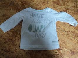 SK-181 LA Shirt weiß mit Schrift in mint von LITTLE QUAPI ONE Gr. 56
