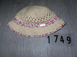 1749 Sommerhut mit Blumen von STERNTALER Gr. 51 18-24 Monate