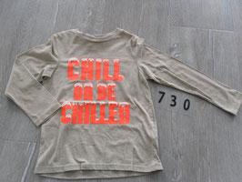 730 LA Shirt beige mit neon oranger Aufschrift Gr. 110/116