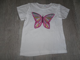 1181 Shirt weiß mit Schmetterling Gr. 92