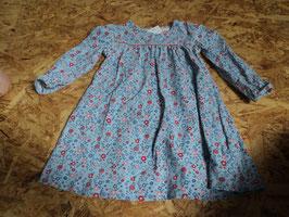 L-13 LA Kleid blau mit Blumen von TCHIBO Gr. 86/92