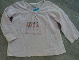 SS-58 LA Shirt rosa mit Schulbus Kinder von PETIT BATEAU  Gr. 86