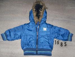 1685 Winterjacke blau karriert Gr. 62/68