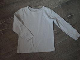 2653 LA Shirt weiß Uni von H&M Gr. 98/104