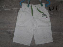 821 Sommerhose von VERTBAUDET weiß grün Gr. 86