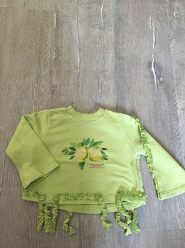 1847 Kurz Pulli grün Zitronen mit Fransen  von TOFF TOGS Gr. 98