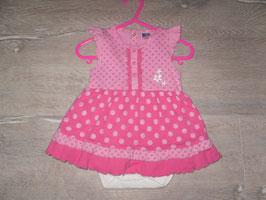 424 Bodykleid pink Punkte Gr. 74/80