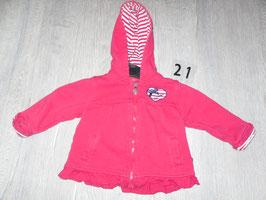 21 Sweat Jacke pink miit Herz Gr. 74