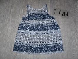1184  Hängerchen dunkelbllau mit weiß von H&M Gr. 68