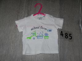 485 Shirt weiß School Farm von WUNSCHKIND Gr. 56