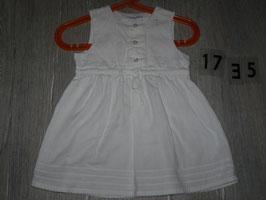 1735 Tolles Sommerkleid in weiß schick von  H&M  Gr. 74