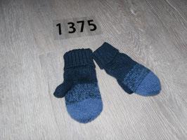 1375  Fäustlinge blau von H&M Gr. 74/80