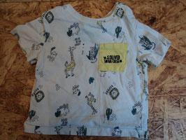 V-149 Shirt weiß mit Tiere und Brusttasche von S'OLIVER Gr. 68