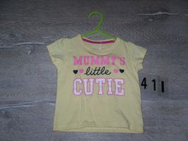 411 Shirt gelb Mummys little Cutie Gr. 80