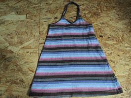 L-14 Neckholder Kleid braun gestreift von H&M Gr. 98