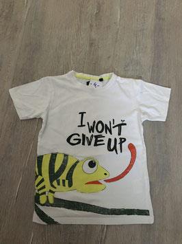 1970 Shirt weiß mit Camälion I won't give up von BLUE seVEN Gr. 122