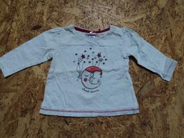 261 LA Shirt weiß -pinke Nähte mit Mond und Sterne und Glitzer von S'OLIVER Gr. 56