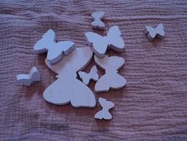 17 Deko Schmetterlinge rosa 8 Stück