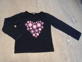 2757 LA Shirt dunkel lila mit pink weißen Blumen von TOM TINO  Gr. 98/104