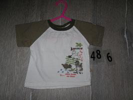486 Shirt weiß khaki mit Dino Gr. 56