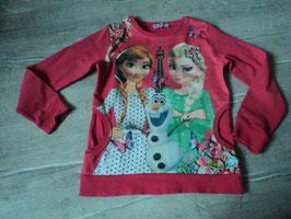 208 LA Shirt pink mit Anna, Elsa und OLAF vorne Eingriffstaschen von FILE KIDS CLUB Gr. 134